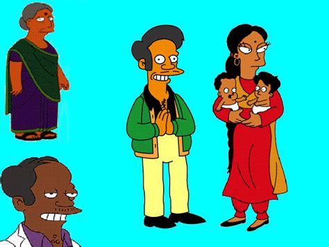 imagenes de la familia hindu el mundo simpsons