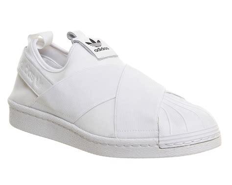 Adidas Supetstar Slip On White adidas superstar slip on white mono hers trainers