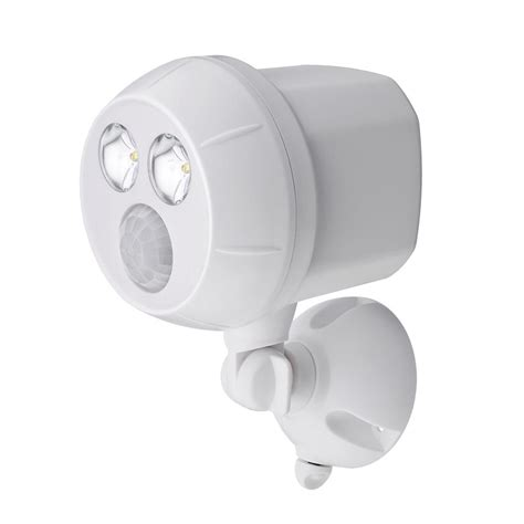 outdoor led motion light battery powered mr beams 300 lumen outdoor white weatherproof wireless