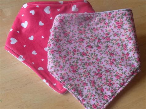 Handmade Bandana Bibs - handmade baby bandana dribble bibs set of 2 for sale in