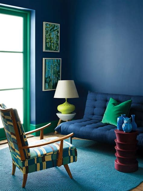 blue interior mid century modern mid century and blue on pinterest