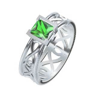 Celtic Infinity Symbol Celtic Emerald Princess Cut With Infinity Symbol By