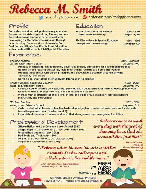 free creative resume templates for teachers creative elementary resume listmachinepro