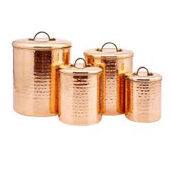 Copper Canister Set Kitchen by Copper Hammered Canister Set Of Four Old Dutch