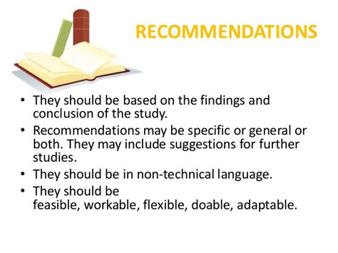 research paper recommendation exle parts of a research paper