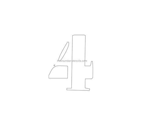 printable curb number stencils free curb painting 4 number stencil freenumberstencils com