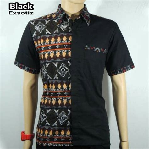Baju Kaos Cowok Pria Kombinasi Salur 5 jual kemeja batik pria baju batik kombinasi songket