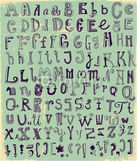 printable whimsical alphabet letters inkshuffle whimsical hand drawn alphabet letters