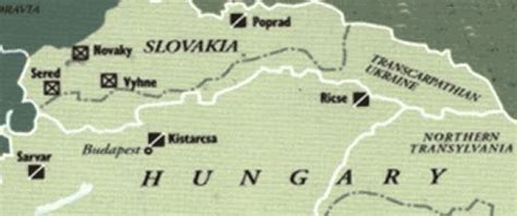 map  concentration camps  hungary slovakia jewish