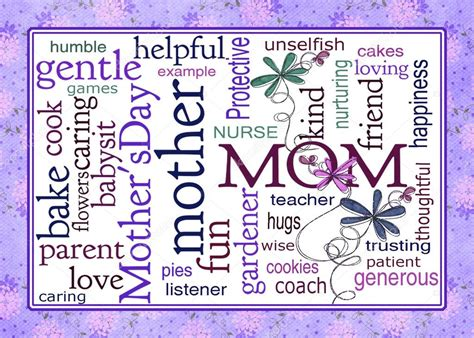 mothers day word art collage stock photo  jentara