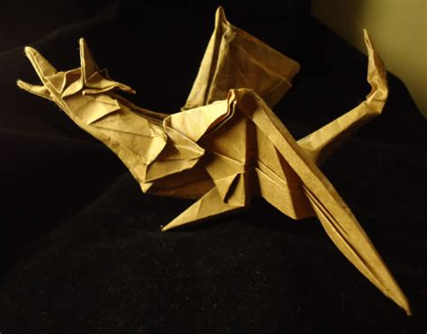 Origami Wyvern - origami wyvern by flamekurosei on deviantart