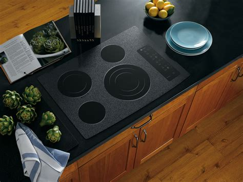 30 in electric cooktop ge profile pp945wmww 30 quot built in electric cooktop