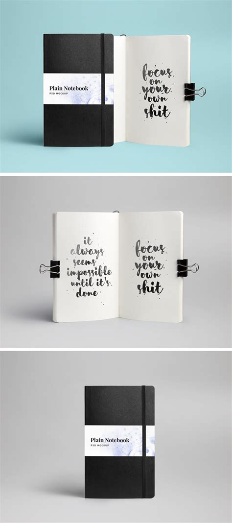 notebook mockup psd graphicburger