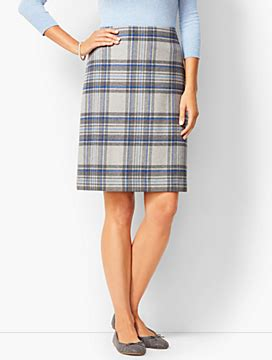 A Line Plaid Skirt s skirts skirts for talbots