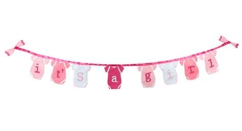 Decorations For Welcome Home Baby it s a girl banner tulsai llc ecopartytime