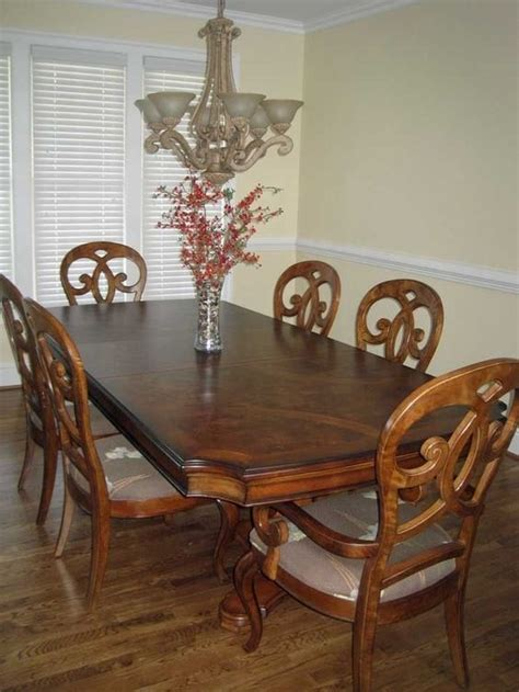 Thomasville Dining Room Table And Chairs Thomasville Furniture Rivage Dining Room Pedestal Table W Custom Bases Furniture