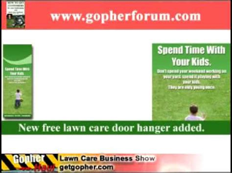Free Lawn Care Door Hanger Template And Website Design Gopherhaul Lawn Care Business Podcast Lawn Care Door Hanger Template
