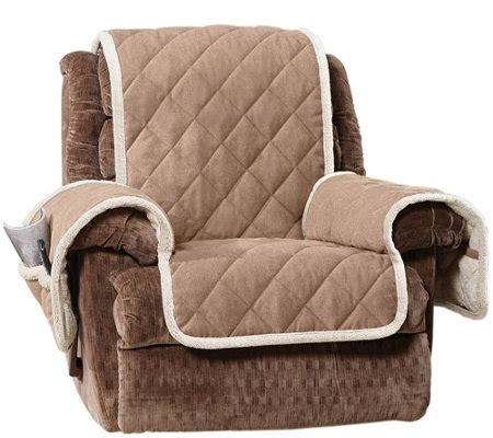 sherpa recliner cover sure fit reversible suede to sherpa recliner furniture