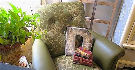 Painting Pleather Furniture by Stenciling Leather Club Chair Hometalk