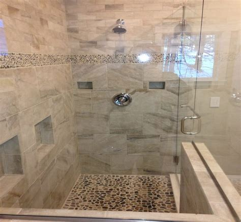 bathroom shower porcelain pearl 12x12 3x6 pearl brickbond