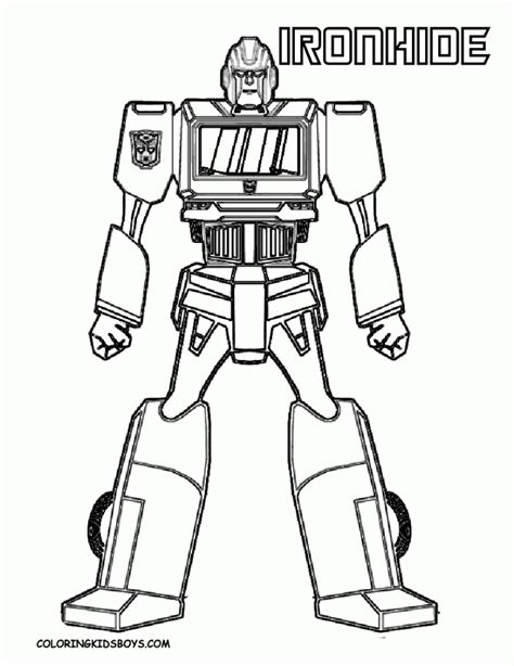 robot boy coloring page get this free boys coloring pages of transformers robot
