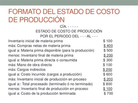 costo de reemplacamiento del estado 2016 estado de costo de producci 243 n y ventas