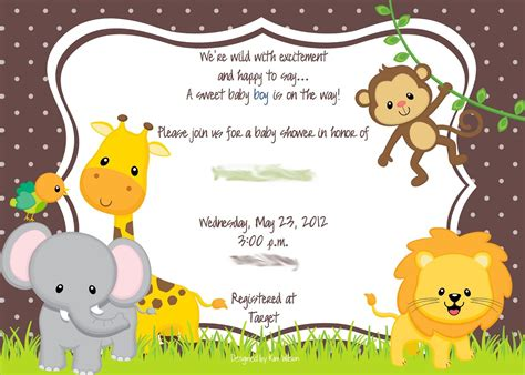 Baby Animal Clipart Baby Shower by Clip Baby Jungle Animals Www Pixshark Images
