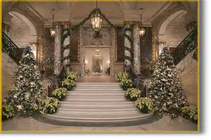 Christmas Decorations In Home by Newport Mansions Christmas Time Staircase