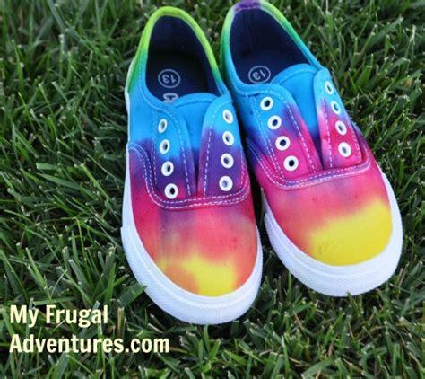 diy dye shoes diy tie dye children s shoes my frugal adventures