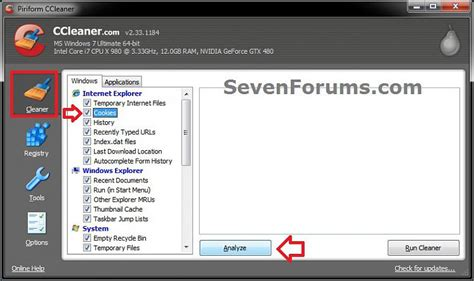 ccleaner not deleting cookies cookies delete windows 7 help forums