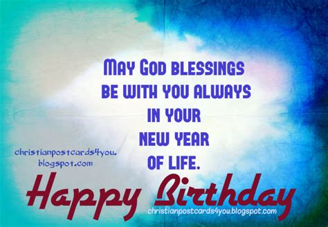 Birthday Christian Quotes Happy Birthday May God Blessings Be With You Always