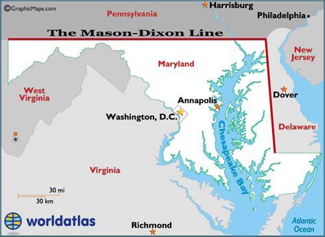 Mason Dixon Line Map and Information
