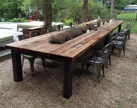 Outdoor Wood Dining Tables Reclaimed Wood Outdoor Furniture Rustic Outdoor Tables Outdoor Intended For Wooden Patio Dining
