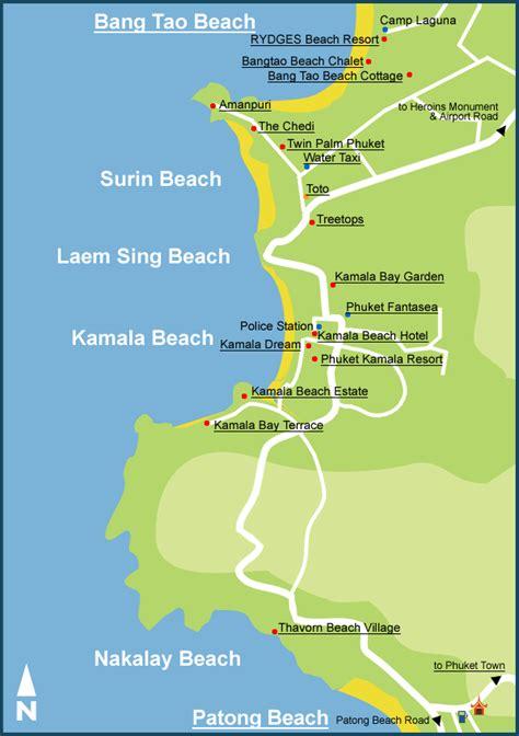 kamala resort map รถเช าภ เก ต