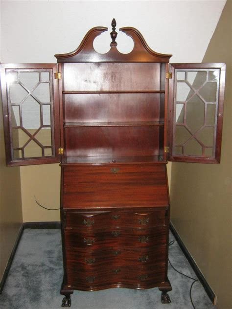 antique desk with antique secretary cabinet with drop down desk for sale