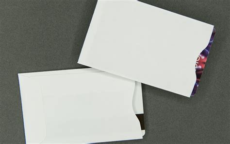 Paper Gift Card Sleeves - plain white card sleeve paper bank cards dvds rfid and cd envelopes sleeves