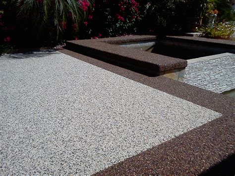 exteriors pebble stone patio flooring brown river rock