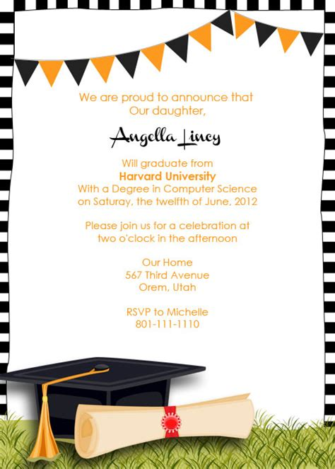 graduation party invitation wedding invitation templates