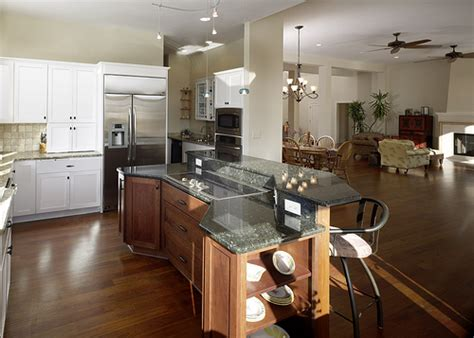 open kitchen floor plans with islands home decor and