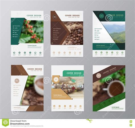 coffee shop brochure design free download vector annual report brochure flyer design coffee beans