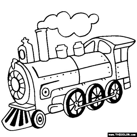 Toy Train Drawing And Locomotive Online Coloring Pages Page 1 sketch template