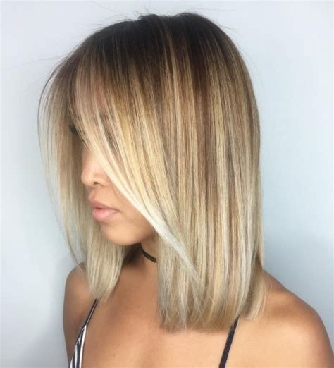 blunt bob with wispy ends 60 inspiring long bob hairstyles and lob haircuts 2017