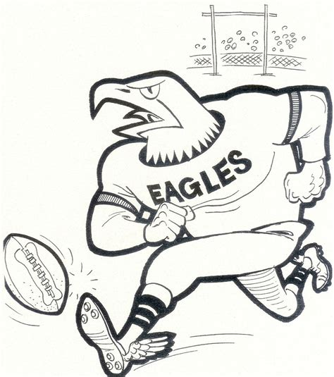 philadelphia eagles 8x10 team photo card mascot vintage