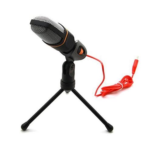 Senmai Stereo Microphone Mini For Pc Laptop Black niceeshop tm professional condenser podcast studio sound