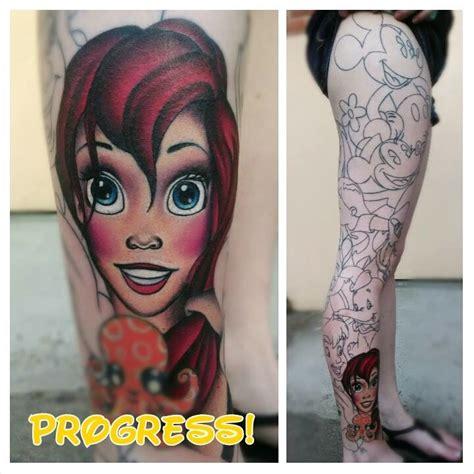 miss mae la roux disney leg sleeve 1 perfect tattoo artists