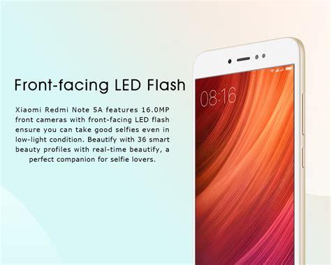 Xiaomi Redmi Note 5a 32 Gb Gold xiaomi redmi note 5a 5 5 inch 3gb 32gb smartphone gold