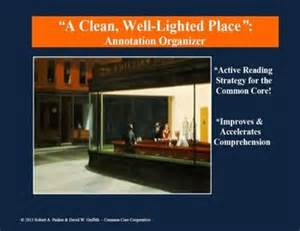 Ernest Hemingway A Clean Well Lighted Place Quot A Clean Well Lighted Place Quot By Ernest Hemingway