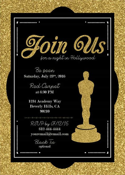 award ceremony invitations templates