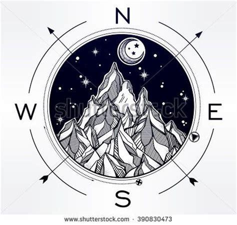 compass tattoo template 17 best ideas about mountain tattoos on pinterest