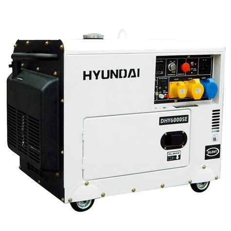 hyundai 6 5 kva diesel generator dhy6000se